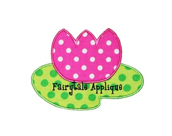Digital Machine Embroidery Design - Water Lily Applique