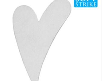 Stamping Blank-Aluminum Heart 1 7/8 inch Stamping Blanks-Soft Strike Aluminum -20 Gauge- 6 pack