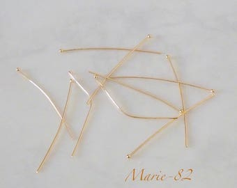 Nails / 40 X 0.60 mm - gold plated ball head pins