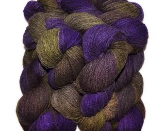 Hand dyed yarn - Alpaca / American wool yarn, Worsted weight, 240 yards - Copacati