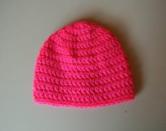 Beanie - Neon Pink PREMIE/NEWBORN SIZE