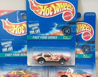 Hot Wheels Fast Food Series Set (#1, #2, and #4 only)  1995