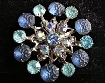 Vintage Blue Brooch/Pin