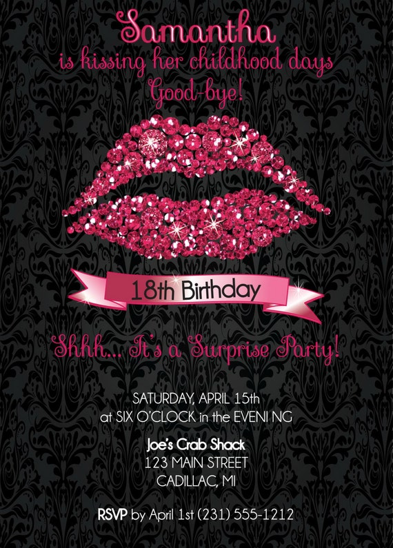 18th birthday invitation 18th birthday party invitation hot