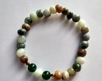 Agate and  Natural Stones Bracelet