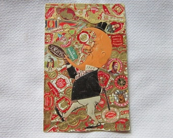 c. 1909 Cigar Label Postcard