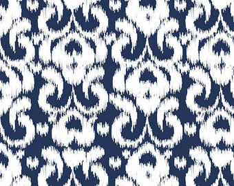 RBD Designs - Ikat Knit Fabric - Navy - Sold by the 1/2 Yard