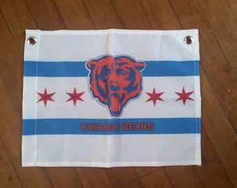 "Chicago Bears Flag 12"" x 15"" Limited Edition"