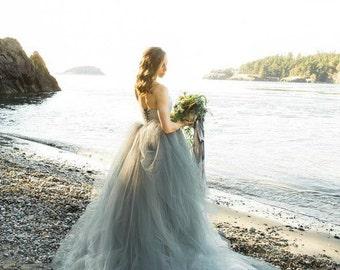 Light Grey Bridesmaids Dresses Etsy