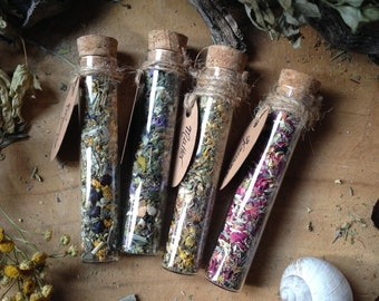 4-er set of your choice of incense/smudge/incense/herbs/herb/magic