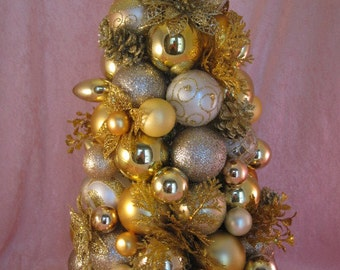 Gold Ornament Tabletop Tree