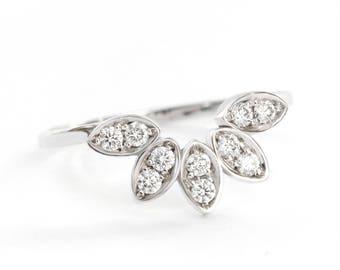 Beautiful 14K White Gold Women Wedding Diamond  Ring, Women Diamond Ring, Gift for Her, Custom Made Ring, Silly Shiny Rings