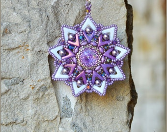 Avastar pendant pdf step by step tutorial. How to make a pendant with beads.