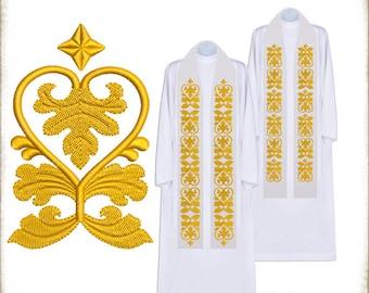 ORNAMENT - Machine Embroidery Design -  ESTOLA01  ---INSTANT DOWNLOAD---