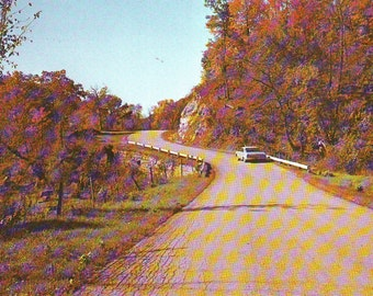 Vintage Road to Wyalusing State Park in  Wisconsin Unused Post Card