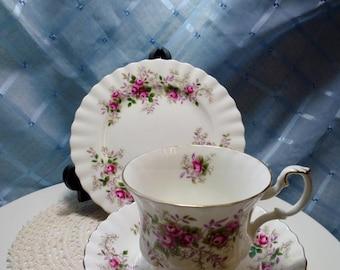 "Vintage ""Royal Albert Bone China"" Tea Cup Trio"
