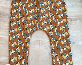 READY TO SHIP Autumn Leaves organic baby leggings by RBLeggings