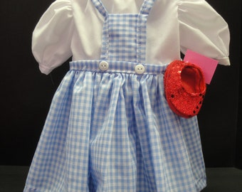 Dorothy outfit to fit American Girl and most other 18 in dolls