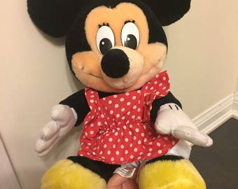 Vintage Walt Disney Minnie Mouse plush