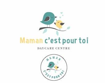 bird logo, baby logo, kindergarten logo, kids clothing logo, childcare logo, daycare logo, boutique logo, Photography logo, Affordable logo