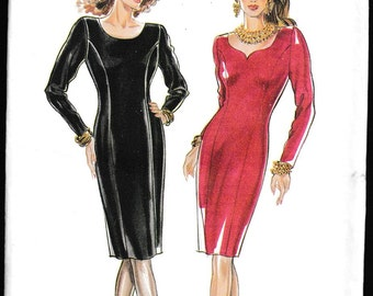 New Look 6498 Misses' Scoop Neck Fitted Dress