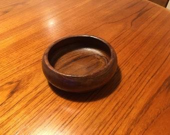 Retro teak bowl