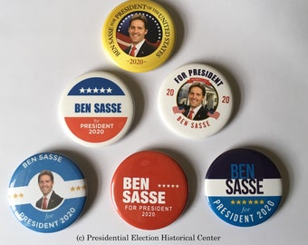 Ben Sasse For President Set of 6 Campaign Buttons (SASSE-ALL)