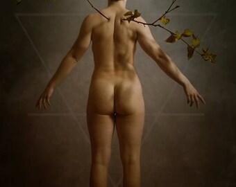 Gaia - Original Photography Nude Photomanipulation Conceptual Fine Art Print Fantasy Dark