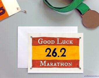 Marathon Good Luck Card, Good Luck Marathon card, card for 26point2 miles, good luck 26.2 card
