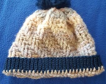 Crochet acrylic beanie