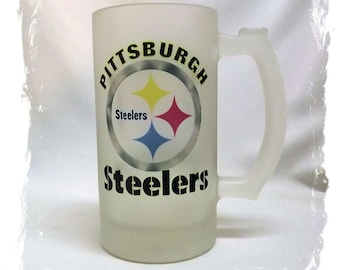 Pittsburgh Steelers Frosted 16 ounce Beer Mug