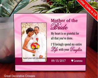 Mother of the Bride personalized picture frame - Mom Wedding Gifts - Mother in Law Gift - Mom of the Bride Gift, Parent of Bride, FWA002