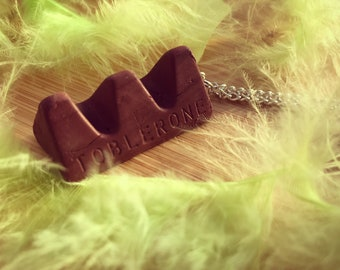 Chocolate Toblerone Necklace