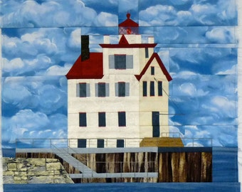 Lorain Harbor, OH Lighthouse quilt pattern - ON SALE
