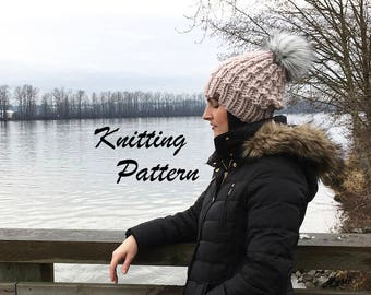Hat Knitting Pattern, Super Bulky Knitting Hat Pattern - The Seymour Hat
