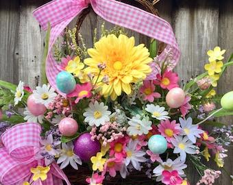 Easter Bunny Door Hanger, Bunny Door Hanger, Bunny Wreath, Spring Bunny Door Hanger, Spring Wreath, Easter Wreath