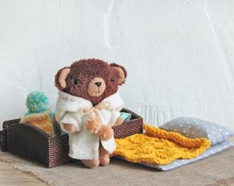 Stuffed Animal 6 Inch Teddy Bear Gift Miniature Soft Toy with Clothes Plush Toys Clothing Mini Stuffed Bear Handmade Toy