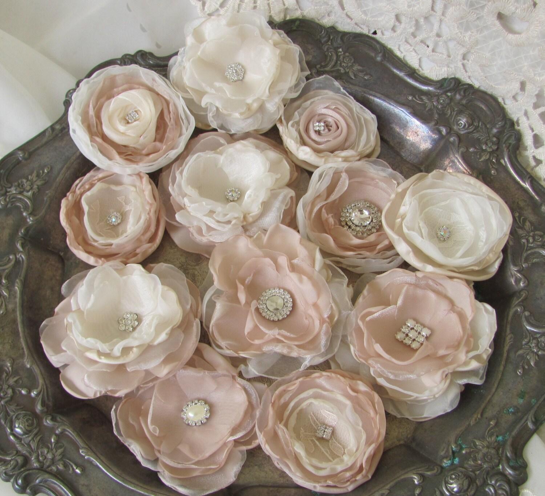 DIY Wedding Fabric Flowers Bridal