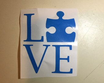 Autism Awareness LOVE Decal