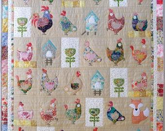 Hen House Applique Quilt Pattern