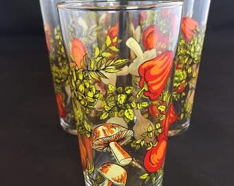 Set of 5 Vegetable Print Juice Glasses