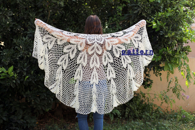 Crochet lace shawl tutorial Crochet PDF patterns Crochet shawl Lace ...