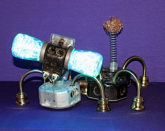 They Call it a Dog - Found object robot light up pet ~Assemblage