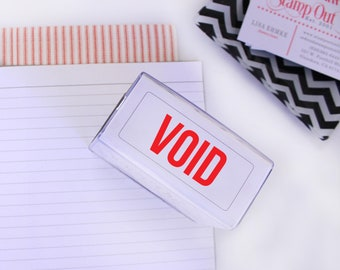 Void Stamp, Self inking Stamp, Office Stamp, Stamps for Business, Rubber Stamps, Etsy Shops Stamps, Shipping Supplies --14010-PI20-000