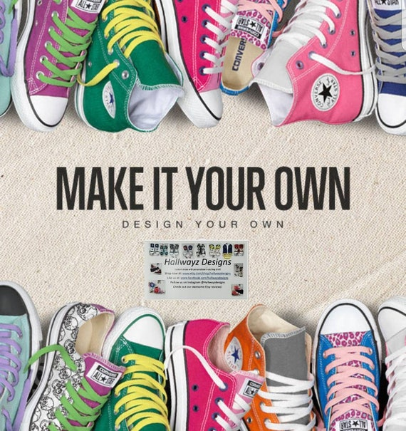 Design your own Converse shoes Add your favorite logo