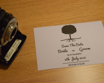 Save The Date. Tree Theme. A6 or A7