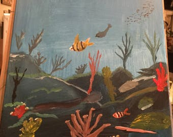 Corals painting