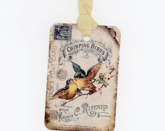 Bird Gift Tags , Vintage Birds , Bluebirds , French Tags , Love Birds , Wedding Tags , Rustic Wedding , Shabby Tags