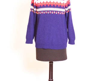 1980s vintage Miss Swiss ski sweater size S