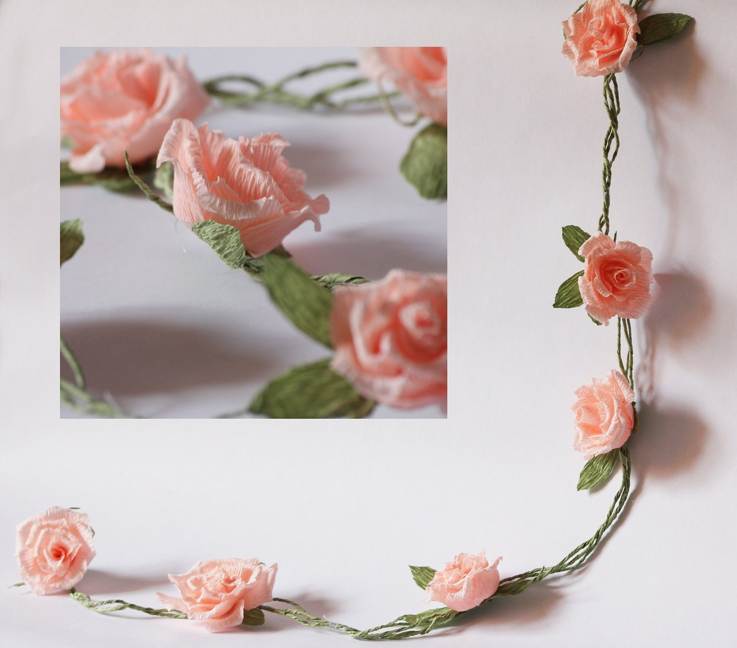 Wedding garland paper wedding garland paper flower garland zoom mightylinksfo Choice Image